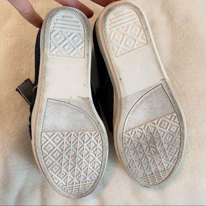 Steve Madden Shoes - Steve Madden Dark Denim Bow Wedge Sneakers!